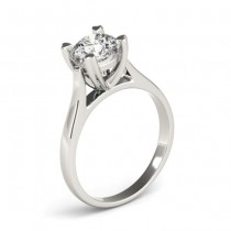 Solitaire Cathedral Prong-Set Engagement Ring Setting 18K White Gold
