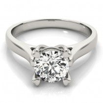 Solitaire Cathedral Prong-Set Engagement Ring Setting Palladium