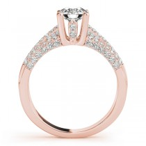 Diamond Accented Multi-Row Engagement Ring 18k Rose Gold (1.23 ct)
