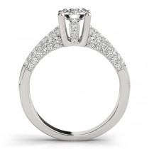 Diamond Accented Multi-Row Engagement Ring Palladium (1.23 ct)