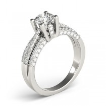 Diamond Accented Multi-Row Engagement Ring Palladium (1.23 ct)