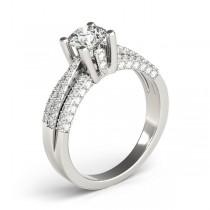 Diamond Accented Multi-Row Engagement Ring Platinum (1.23 ct)