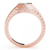 Diamond Antique Style Six Prong Engagement Ring 14k Rose Gold (0.37ct)