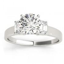 Three-Stone Emerald Cut Diamond Engagement Ring Setting (0.30ct)