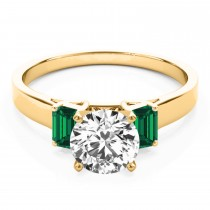 Trio Emerald Cut Trio Emerald Engagement Ring 14k Yellow Gold (0.30ct)