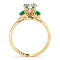 Trio Emerald Cut Trio Emerald Engagement Ring 18k Yellow Gold (0.30ct)
