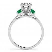 Trio Emerald Cut Trio Emerald Engagement Ring Platinum (0.30ct)
