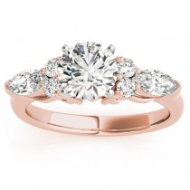 Diamond Marquise Accented Engagement Ring 18k Rose Gold 0.66ct