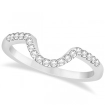 Oval Diamond Halo Semi Eternity Bridal Set in 14k White Gold (0.88ct)