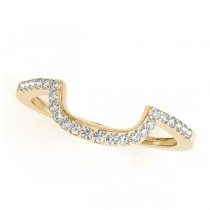 Diamond Semi Eternity Contoured Wedding Band 18k Yellow Gold (0.17ct)