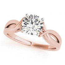Solitaire Bypass Diamond Engagement Ring 18k Rose Gold (1.25ct)