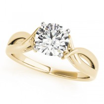 Solitaire Bypass Diamond Engagement Ring 18k Yellow Gold (1.25ct)