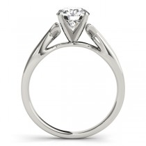 Solitaire Bypass Twisted Engagement Ring Setting Platinum