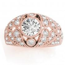 Diamond Antique Style Edwardian Engagement Ring 14K Rose Gold (0.71ct)