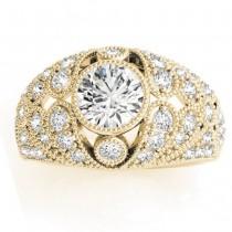 Diamond Antique Style Edwardian Engagement Ring 14K Yellow Gold (0.71ct)