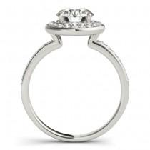 Diamond Halo Engagement Ring Setting 14K White Gold (0.29ct)