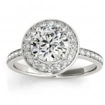 Diamond Halo Engagement Ring Setting Platinum (0.29ct)