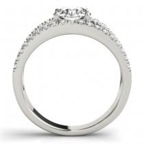 Round Diamond Split Shank Engagement Ring 14K White Gold (0.69ct)