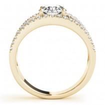 Round Diamond Split Shank Engagement Ring 18K Yellow Gold (0.69ct)