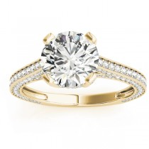 Diamond  Accented Engagement Ring 14k Yellow Gold (0.87ct)
