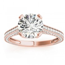 Diamond  Accented Engagement Ring 18k Rose Gold (0.87ct)