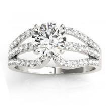 Diamond Triple Row Engagement Ring Setting Platinum (0.52ct)