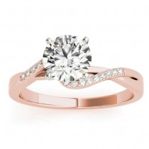 Diamond Bypass Engagement Ring 18k Rose Gold (0.09ct)