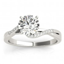 Diamond Bypass Engagement Ring 18k White Gold (0.09ct)