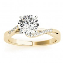 Diamond Bypass Engagement Ring 18k Yellow Gold (0.09ct)