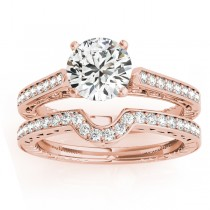 Diamond Antique Style Bridal Set 14k Rose Gold (0.24ct)