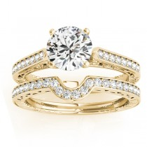 Diamond Antique Style Bridal Set 14k Yellow Gold (0.24ct)