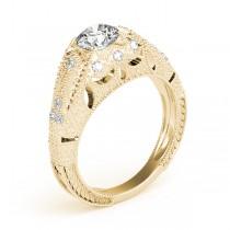 Art Nouveau Diamond Antique Engagement Ring 14k Yellow Gold (0.90ct)