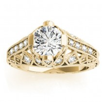 Diamond Antique Style Engagement Ring Setting 14K Yellow Gold (0.20ct)
