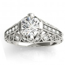 Diamond Antique Style Engagement Ring Setting Platinum (0.20ct)