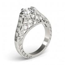 Diamond Antique Style Engagement Ring Setting Platinum (0.20ct)