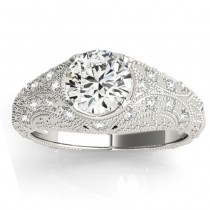 Diamond Antique Style Engagement Ring Art Deco Palladium (0.20ct)