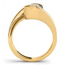 Diamond Tension Set Engagement Ring Setting 14K Yellow Gold (0.19ct)