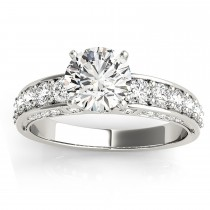 Multi Row Diamond Engagement Ring (0.50ct)