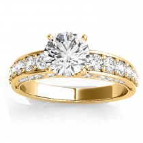 Multirow Diamond Engagement Ring Setting (0.50ct)