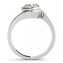 Solitaire Tension Set Diamond Engagement Ring 14k White Gold (0.90ct)