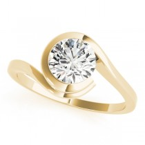 Solitaire Tension Set Diamond Engagement Ring 14k Yellow Gold (0.90ct)
