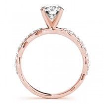 Solitaire Contoured Shank Diamond Engagement Ring 14k Rose Gold (0.33ct)