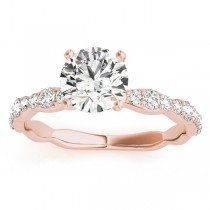 Diamond Accented Engagement Ring Setting in 18k Rose Gold (0.33ct)
