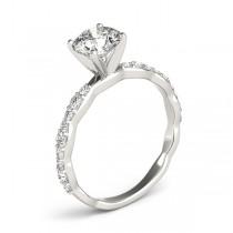 Solitaire Contoured Shank Diamond Engagement Ring Platinum (0.33ct)