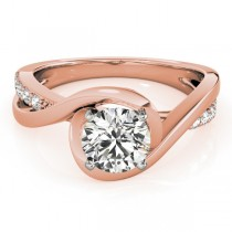Solitaire Bypass Diamond Engagement Ring 14k Rose Gold (3.13ct)
