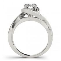Solitaire Bypass Diamond Engagement Ring Palladium (3.13ct)