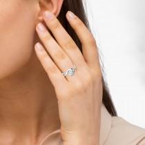 Solitaire Bypass Diamond Engagement Ring Palladium (0.13ct)