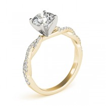 Diamond Twist Sidestone Accented Engagement Ring 14k Yellow Gold (1.69ct)