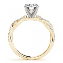 Diamond Twist Sidestone Accented Engagement Ring 14k Yellow Gold (0.19ct)