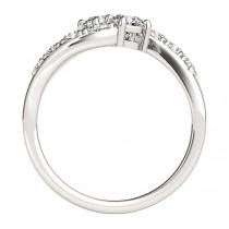 Diamond Accented Contoured Two Stone Ring Platinum (2.00ct)|escape
